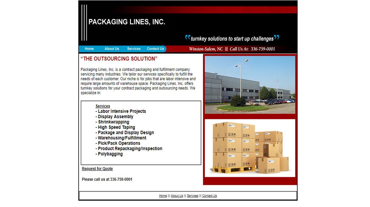 Packaging Lines, Inc.