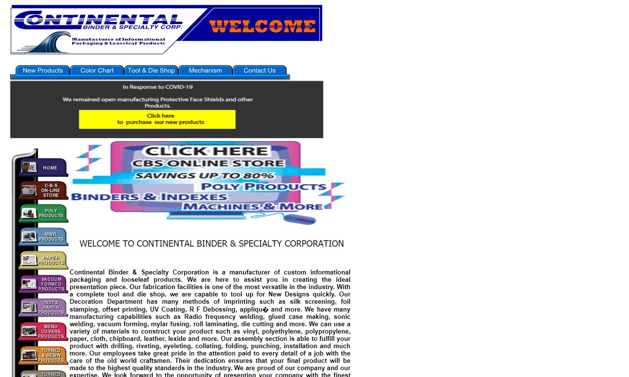 Continental Binder & Specialty Corp.